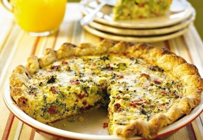 Broccoli & Sun-Dried Tomato Quiche