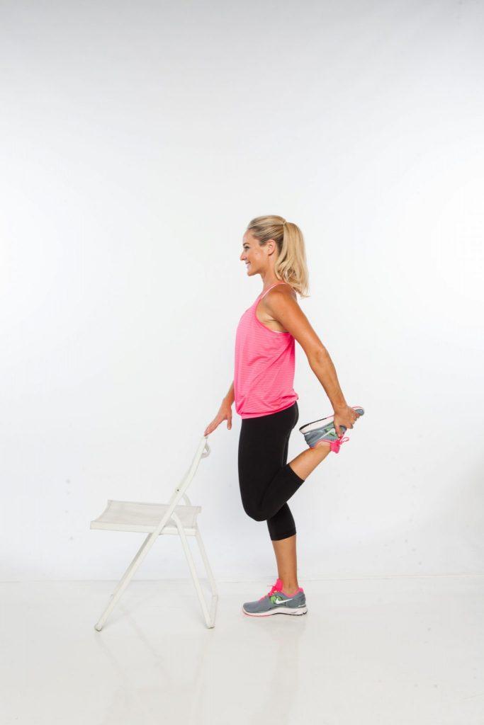 standing psoas and quad stretch