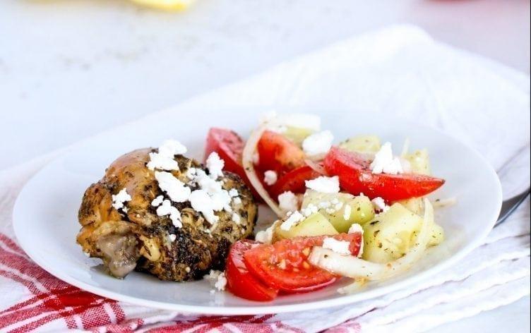 Slow-Cooker Lemon Greek Chicken