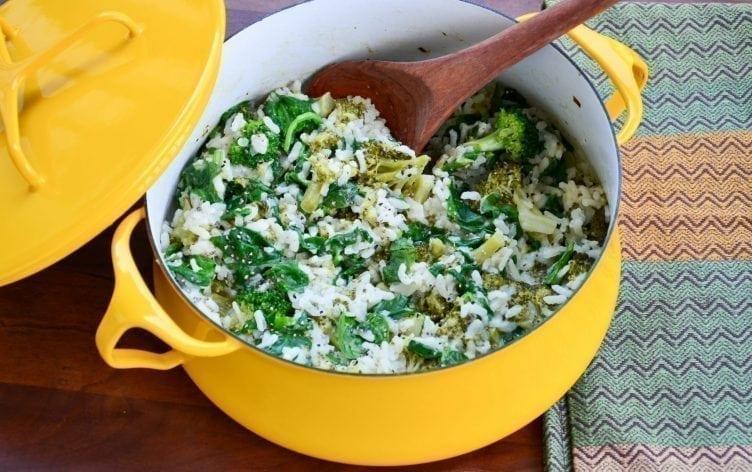 Easy Broccoli-Spinach Risotto