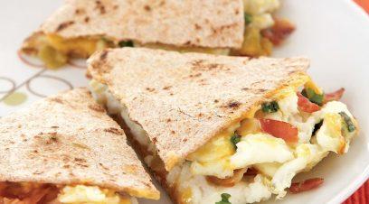 Bacon and Egg Breakfast Quesadilla