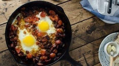 Chorizo Tomato & Egg Breakfast Skillet