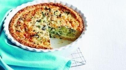Broccoli, Kale & Cheddar Quiche