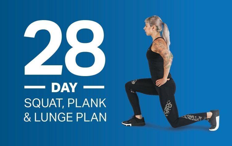 28-Day Squat, Plank & Lunge Plan