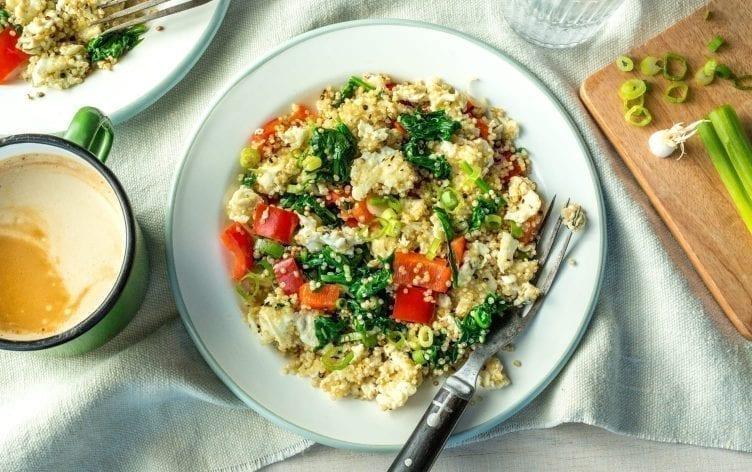 Quinoa Spinach Scramble