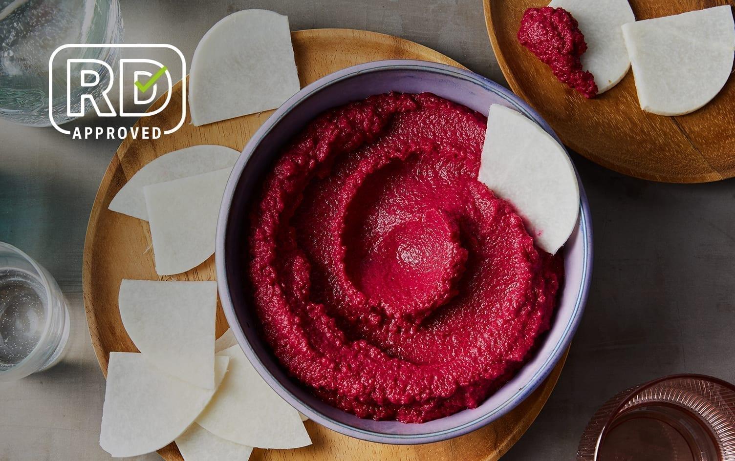 Red Lentil-Beet Hummus