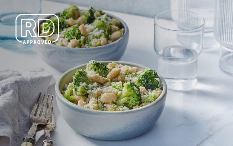 White Bean Bowl With Broccoli Pesto