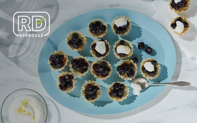 Blueberry Phyllo Pie Bites