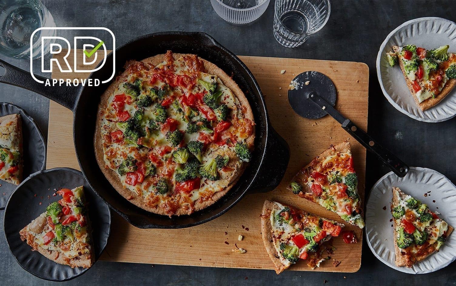 Cast-Iron Broccoli and Ricotta Pizza