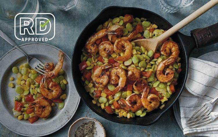 Shrimp and Corn Succotash