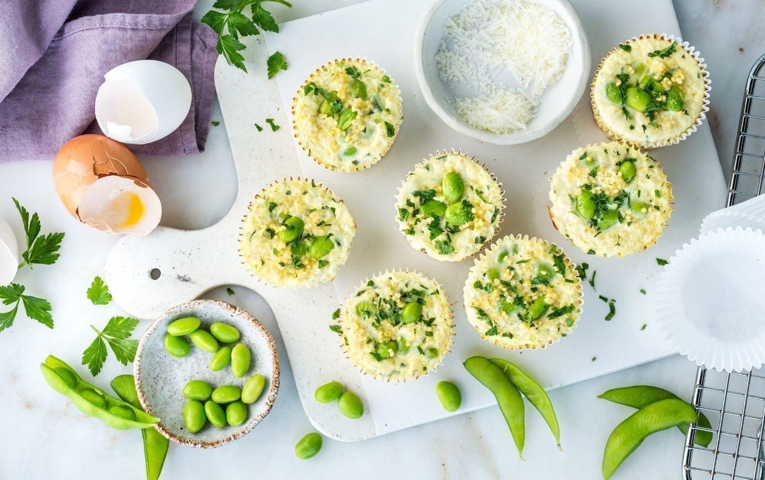 Quinoa Edamame Egg Muffins