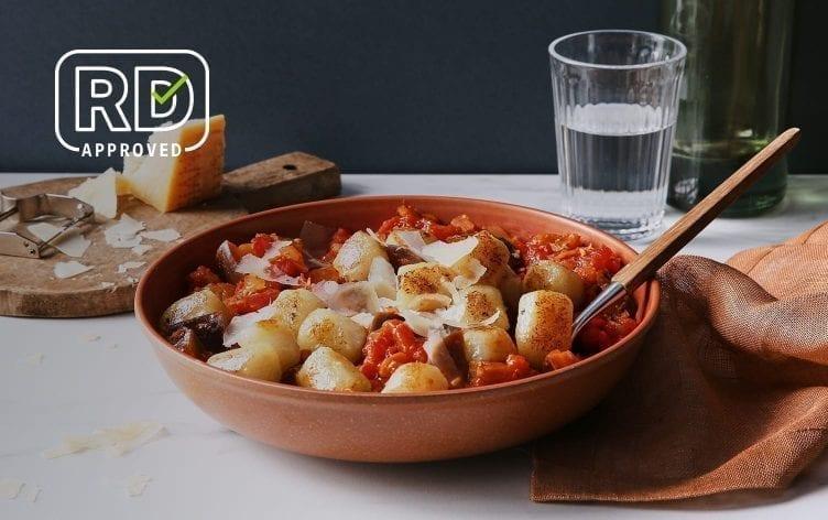 Cauliflower Gnocchi With Eggplant Ragu