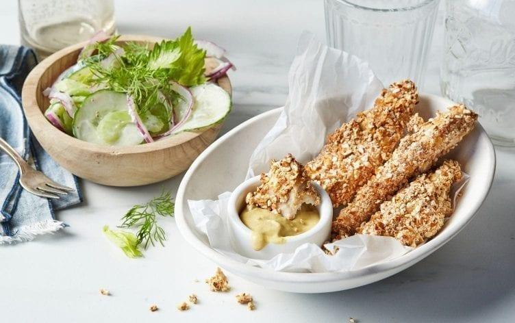Pretzel-Crusted Chicken Strips