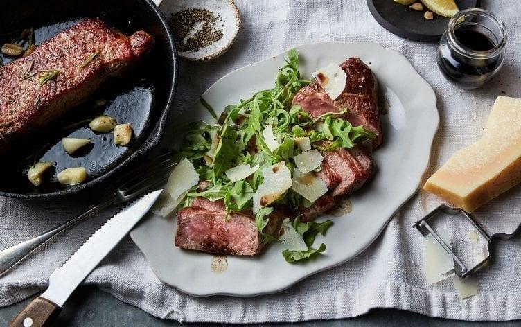Tuscan Steak With Arugula Salad