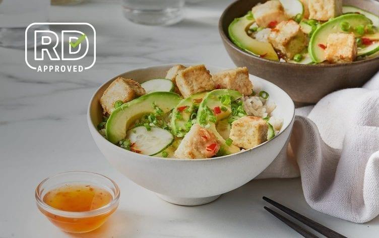 Crispy Air-Fried Tofu Bowls