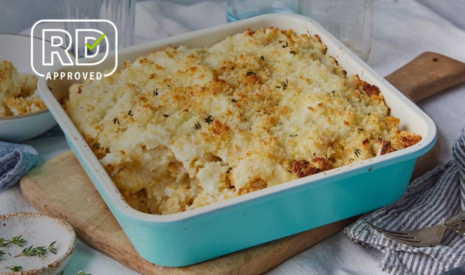 Baked Cauliflower Mac and Cheese