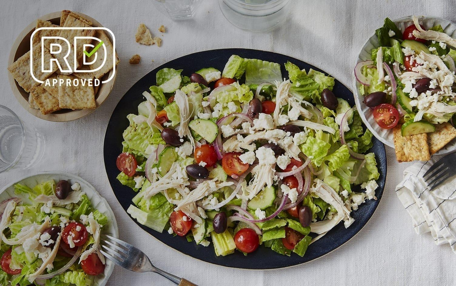 No-Cook Greek Chicken Salad