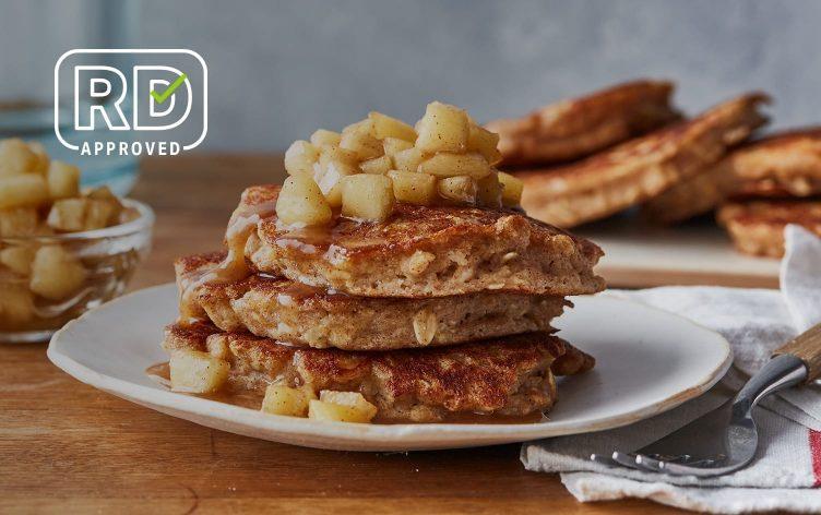 Whole-Grain Cinnamon-Apple Pancakes