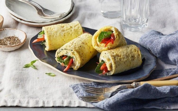 Sheet Pan Omelet Roll Ups
