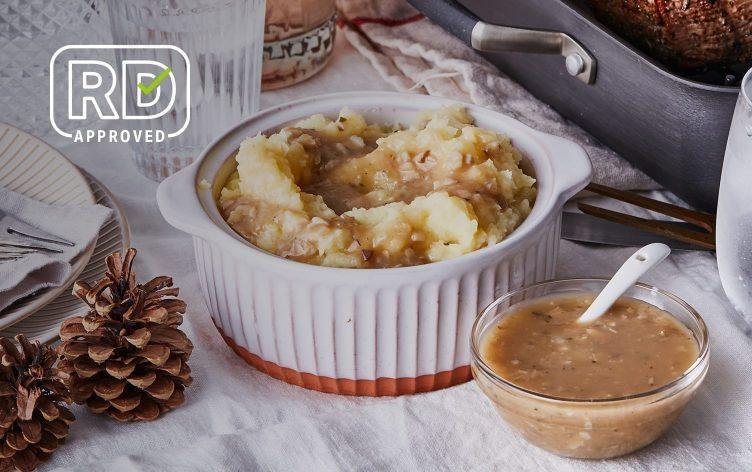 Vegan Mashed Parsnips & Potatoes With Mushroom Gravy