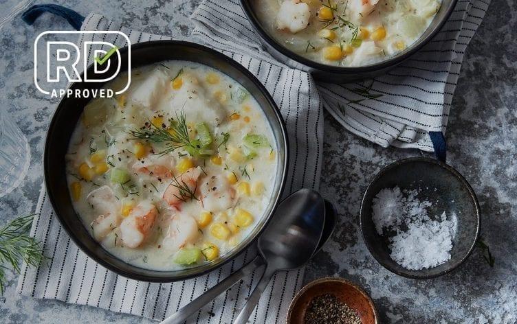 Lactose-Free Fish and Shrimp Chowder