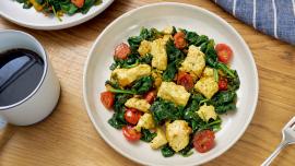 Curried Tofu-Spinach Scramble