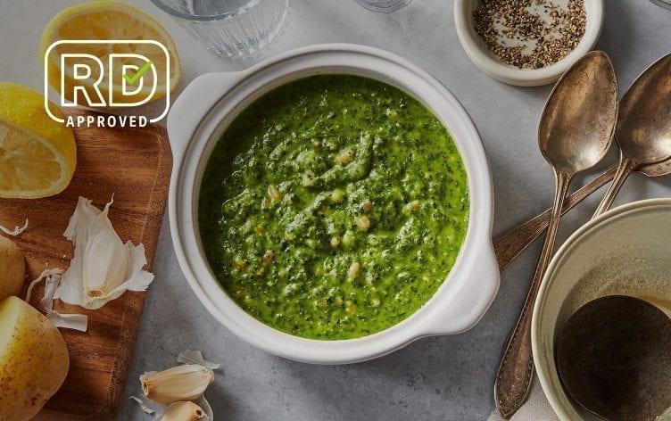 Creamy Vegan Kale and Farro Soup