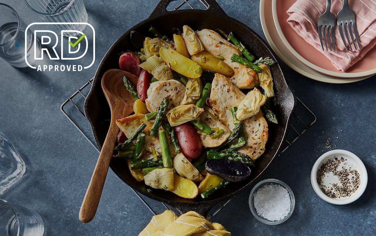 Spring Chicken & Asparagus Skillet